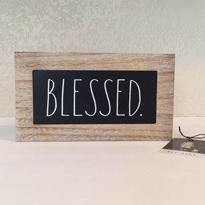 🍂 RAE DUNN BLESSED Wooden Sign - NWT